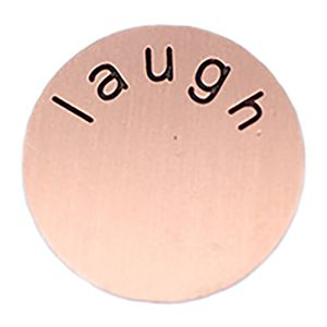 Picture of 'Laugh' Medium Rose Gold Coin