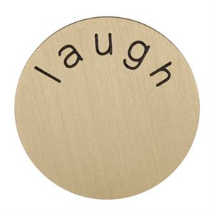 Picture of 'Laugh' Medium Gold Coin